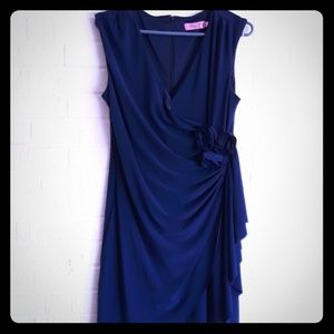 Eliza J. Sleeveless faux wrapped dress